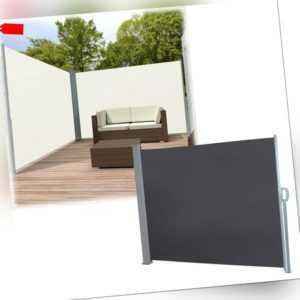 Seitenmarkise Windschutz Sichtschutz Markise Wandmarkise Terrasse Sonnenschutz