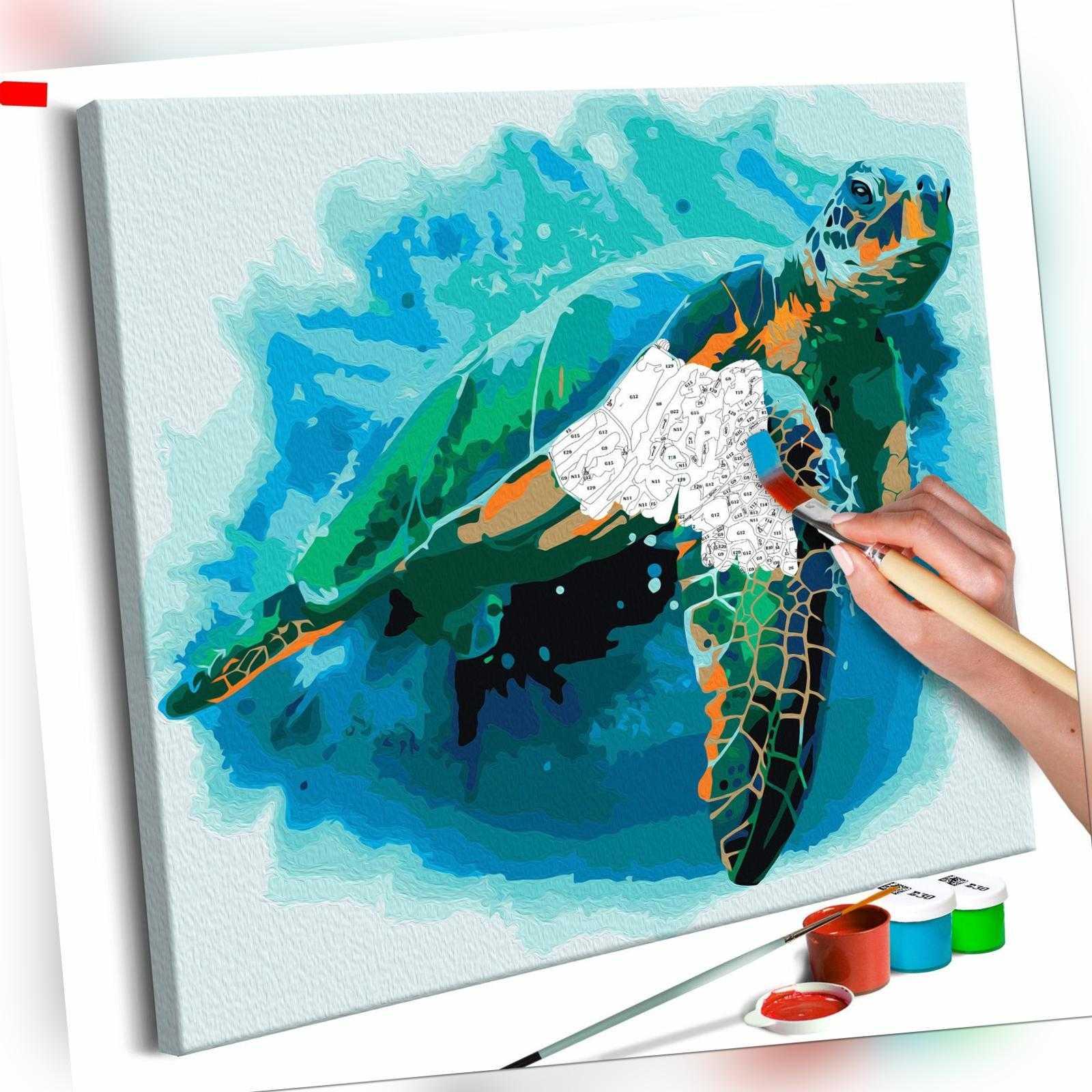 Malset mit Holzrahmen 40x40 Leinwand Erwachsene Gemälde Kit DIY n-A-0315-d-a