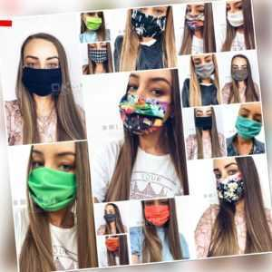 10 Stk. Tuch Schutzmaske Mundschutz Gesichtschutz Gesichtsmaske Staub Waschbar
