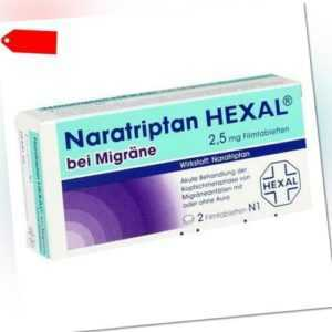 NARATRIPTAN HEXAL bei Migräne 2,5 mg Filmtabletten 2 St 09334719