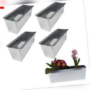4x Blumenkasten für Europalette Balkonkasten Einsatz Pflanzkasten Zink 36cm