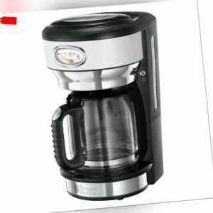 RUSSELL HOBBS Kaffeemaschine Retro Classic Blanc 21703-56 Glas 10...