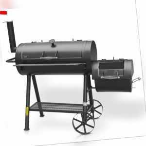 Hecht Sentinel XL SMOKER Grill BBQ GRILL SMOKER HOLZKOHLEGRILL GRILLWAGEN