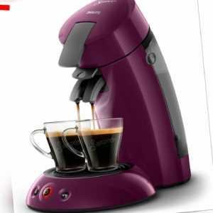 PHILIPS Original Senseo HD6553/40 Kaffeepadmaschine Aubergine 1450...