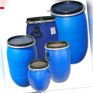 Deckelfässer Regentonne Wasserfass 30-220 Liter Plastik Kunststoff UN-Zulassung