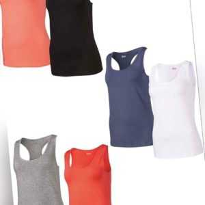 Crvit Damen Tops 2er Set Tanktop Unterhemd Sport Shirt Workout NEU Spar Pack