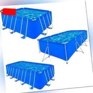 vidaXL Schwimmbecken Stahlwand Swimmingpool Schwimmbad Pool mehrere Auswahl