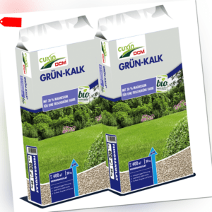 40 kg Rasen- Grün-Kalk - Feingranulat mit Magnesium Kalk 2x 20kg Rasenkalk Cuxin