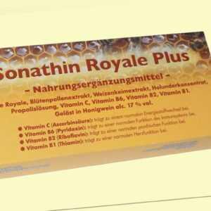 Sonathin Royale Plus mit Gelée Royale, Blütenpollenextrakt, Weizenkeimextrakt...
