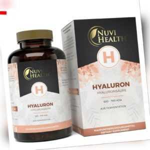 Hyaluronsäure 100 Kapseln hochdosiert mit 500 mg - Vegan - Hyaluron Haut Gelenke
