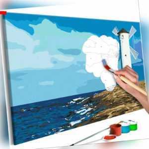 Malset mit Holzrahmen 60x40 Leinwand Erwachsene Gemälde Kit DIY n-A-0888-d-a