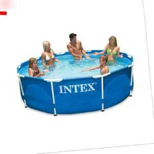 INTEX Pool Metal Frame Swimming Pool Family Frame Familienpool 457x84cm 28228GN