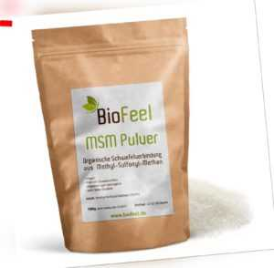 BioFeel - MSM Pulver, 100g - Schwefel - Methylsulfonylmethan