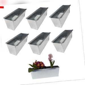 6x Blumenkasten für Europalette Balkonkasten Einsatz Pflanzkasten Zink 36cm