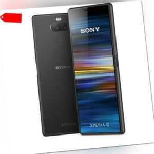 """Sony Xperia 10 DualSim schwarz 64GB LTE Smartphone 6"""" Display 21:9..."""
