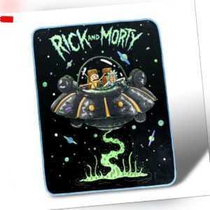 Rick And Morty Frisch Start Fleece Überwurf Decke 114x152cm