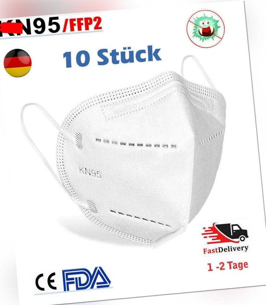 10 x Waschbar Atemschutz Maske FFP2 KN95 N95 Gesichtsmaske ...