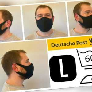 Maske Schwarz Gr L waschbar Nase Mundmaske Gesichtsmaske Behelfsmaske