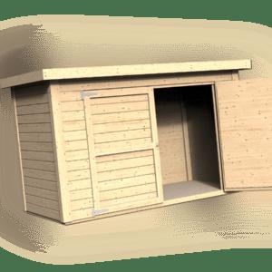 Gartenschrank Gartenhaus ca. 206x102 cm Gerätehaus Schuppen Holz Fahrradschrank