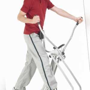 Crosstrainer Nordic Walker Air Walker Fitness Heimtrainer klappbar Silber