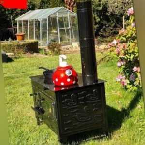 """Außenküche Garten-Herd Gartenküche """"Rosalie"""" Zeltofen Gartengrill Feuerschale Pi"""