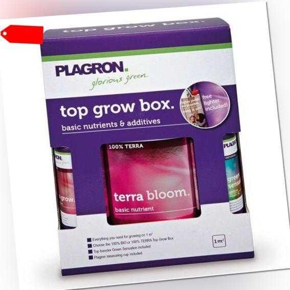 Plagron Top Grow Box Terra Dünger Komplettset für Erde DüngerSet für 1 m²