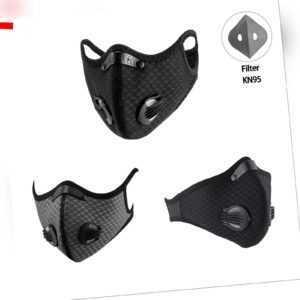ROCKBROS Fahrradmaske Staub- Mundschutz Maske Staubmaske Sport mit Filter CE