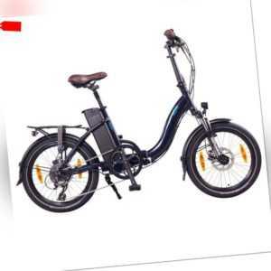 "NCM Paris+ 20"" E-Faltrad, E-Bike, Klapprad 36V 19Ah 684Wh dunkelblau"
