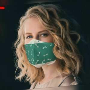 5 Stück 2-lagige Gut und Eng Passende Maske Waschbar Atemschutz Wiederverwendbar