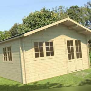 70 mm Gartenhaus 470x470 cm ISO + FUSSBODEN Blockhaus Holzhaus Holz Ferienhaus