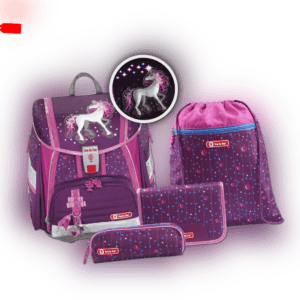 Step by Step Touch 2 Flash Dreamy Unicorn Schulranzen-Set 4tlg NEU