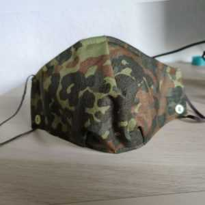 Mund Nasen Maske Bundeswehr Flecktarn Camouflage