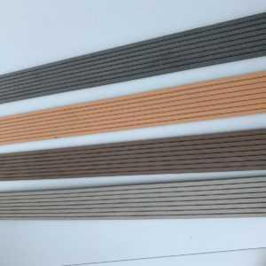 WPC-Terrassendielen Leiste 7,95€/m Abschlussleiste Abdeckleiste WPC-Flachleiste