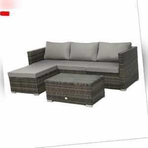 SVITA Poly-Rattan Lounge QUEENS Sofa Gartenset Garnitur Gartenmöbel Braun Set