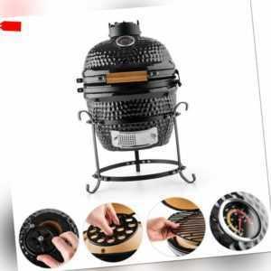 SALITOS BBQ Keramikgrill Urban 13 Zoll Kamado-Grill Holzkohle Ofen Smoker