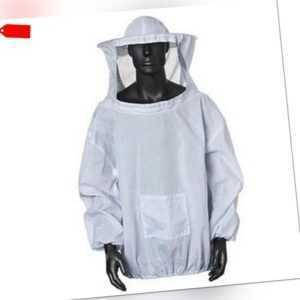 2XL Atmungsaktiv Anti Bienen Anzug Imkerei Schutz Kostüm Jacke Praxis Uns
