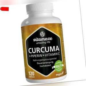 CURCUMA+PIPERIN+Vitamin C Vitamaze 120 st PZN12580511