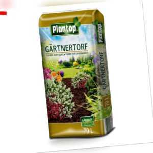 Gärtnertorf Plantop 70 Liter NEU Torf Gärtnerqualität Pflanzen-Erde Blumenerde