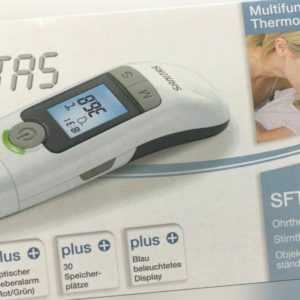 Sanitas SFT 77 Multifunktions Thermometer - 6 in1 - Ohr Stirn Fieberthermometer