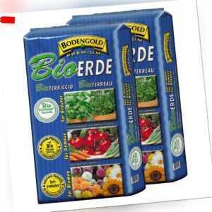 2x BIO Universalerde 20 L = 40 L Bodengold Premium Bioerde Blumenerde Pflanzerde