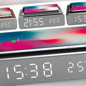 Uhrenwecker Wireless Charger Smartphone Uhren Wecker Kabelloses Aufladen Handy