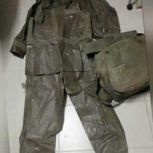 ABC Schutzanzug Zodiak Zodiac Gr. II Gummianzug 2-teilig Hazmat Suit Green
