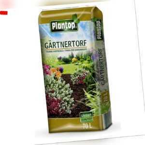 Plantop Gärtnertorf Hochmoortorf für alle Böden und Pflanzen, 70 Liter