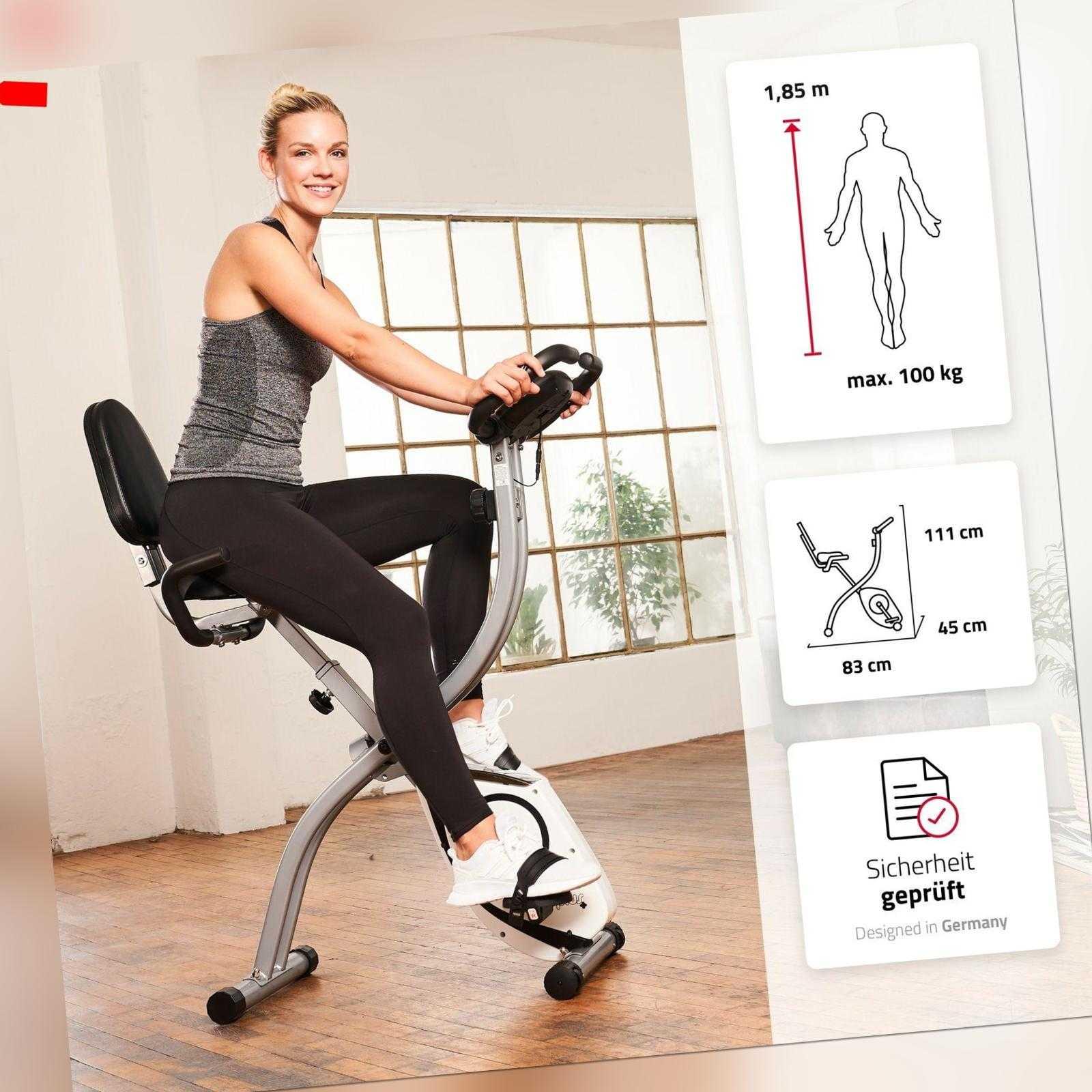 SportPlus X-Bike Fitnessbike Heimtrainer Trimmrad klappbar Ergometer Indoor Bike