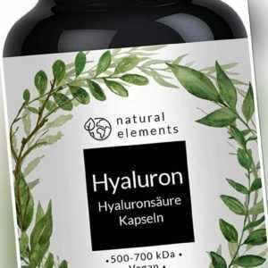 Hyaluronsäure Kapseln - Hochdosiert mit 500mg - Mehrfacher Sieger 2018/2019*