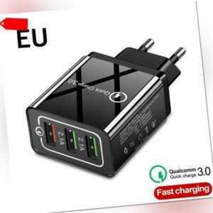 24W 4.8A USB Ladegerät Quick Charge 3.0Ladeadapter 3 Port Netzteil Wand Stecker