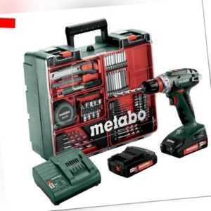 Metabo Akku-Bohrschrauber BS 18 Quick Set inkl. 2x 2,0 Ah + Zubehör (602217880)