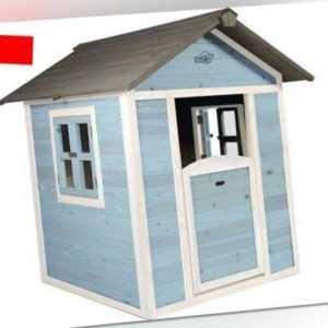 Spielhaus Sunny Lodge Holz blau-weiß