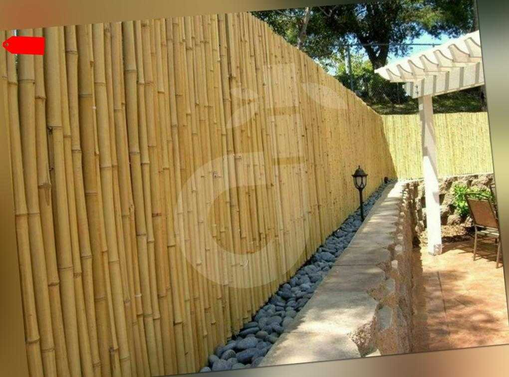 Sichtschutz ATY Nature Bambus Gartenzaun Windschutz Sichtschutzmatte 250x250 cm