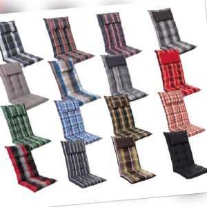 Auflagen für Hochlehner in 16 Farben Gartenpolster Kissen Gartenstuhl Sitzkissen